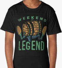 Weekend Legend Tee Shirts Love All Things Beer And Ping Pong T-Shirt Long T-Shirt