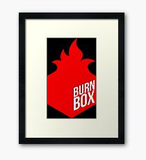 burn box Framed Print