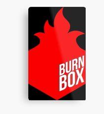 burn box Metal Print