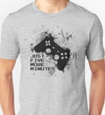 Just Five More Minutes gamer stencil Unisex T-Shirt