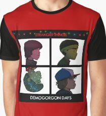 Stranger Things - Gorillaz Album Cover Style Graphic T-Shirt
