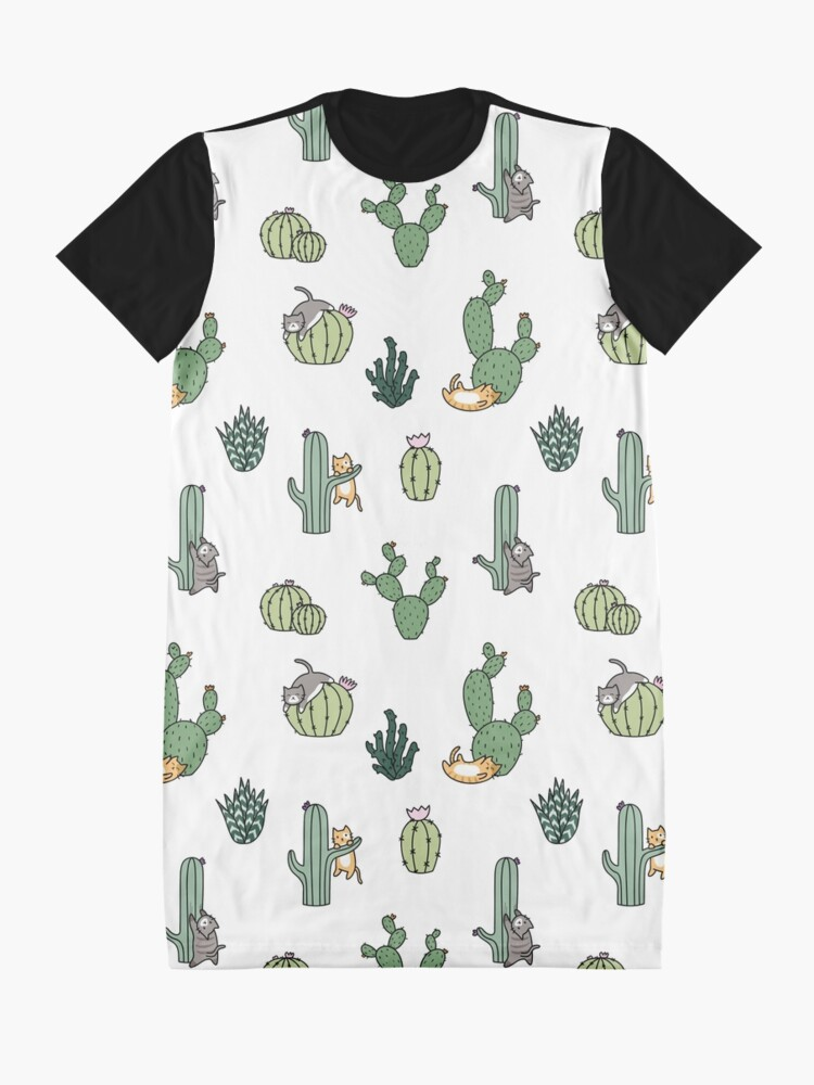 Alternate view of Cacti Cats Graphic T-Shirt Dress