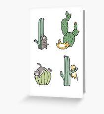 Cacti Cats Greeting Card
