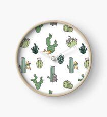 Cacti Cats Clock