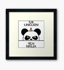 Lámina enmarcada Unicornio Ninja Panda