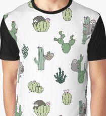 Cacti Sloths Graphic T-Shirt