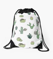 Cacti Sloths Drawstring Bag