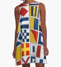 Seeflaggen A-Linien Kleid