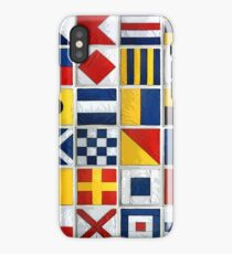 nautical flags iPhone Case