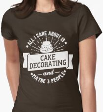 Cake Decorating T-Shirt  Womens Fitted T-Shirt