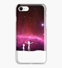 Rick and Morty frickin' bastards (white) iPhone Case/Skin