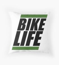 Bikelife Throw Pillow