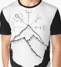 Mountain Compass Graphic T-Shirt