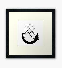 Mountain Compass Framed Print