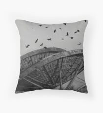 Abandoned Alien Space Craft Throw Pillow
