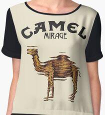 Camel Mirage Band Chiffon Top