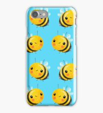 Bumble Bee Sky Blue iPhone Case/Skin