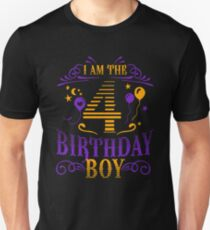 Happy Fourth Birthday Boy Tee Shirt Gift For Kids 4 Years Old Kids T-Shirt Unisex T-Shirt