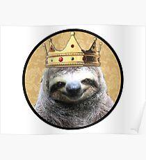 Sloth king Poster