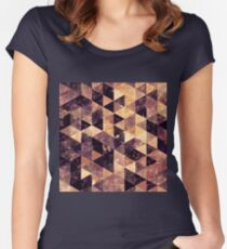 Abstract geometric Background #2 Women's Fitted Scoop T-Shirt