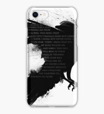 I Welcome The Valkyries iPhone Case/Skin