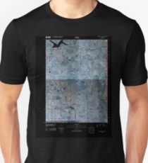 USGS TOPO Map Iowa IA Oakland Acres 20100511 TM Inverted Unisex T-Shirt