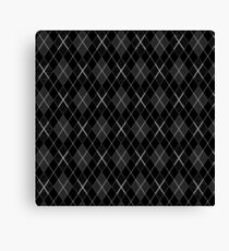 Black plaid pattern Canvas Print
