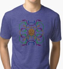 Decorative lattice with a lion in classic style Tri-blend T-Shirt