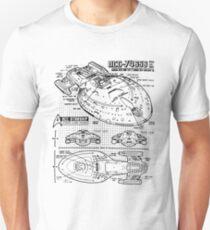 Star Trek Voyager Blueprint T-Shirt
