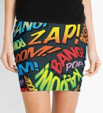 Pop Art Comic Book Sounds Mini Skirt
