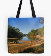 River in drought Tote Bag