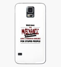 Angry Mechanic, funny car fixing mechanics, driver tire machine design Case/Skin for Samsung Galaxy