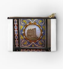 19th Century Painted Glass Studio Pouch