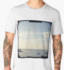 Boat on the ocean Men's Premium T-Shirt