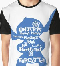 Stitch Ohana means family Graphic T-Shirt