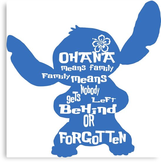 Stitch Ohana means family by terlan