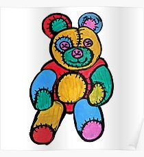 Raggy Patchy Teddy Bear Poster