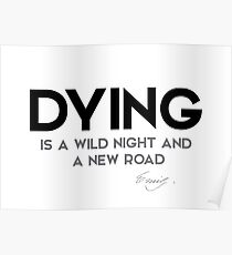 what is dying - emily dickinson Poster