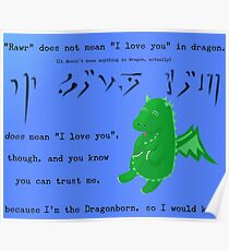 The Dragonborn Loves You. Poster