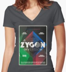 The Zygon Inversion Women's Fitted V-Neck T-Shirt