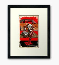 """death proof"" Framed Print"