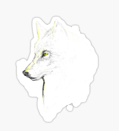 white wolf Sticker