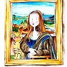 Mona Luisa and cat Leo by IsabelSalvador
