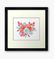 Succulent bouquet Framed Print