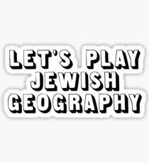 Jewish Geography  Sticker