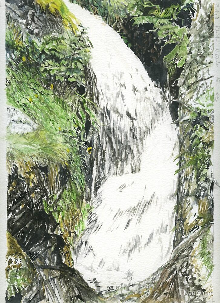 Above Pystll Rheader Part of 100 Waterfalls by Kenart