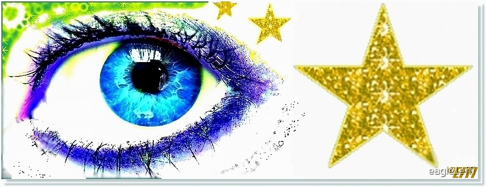 blue eye decorated by eagle1effi by eagle1effi