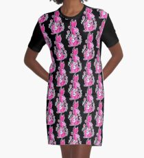 R is for Rabbit Graphic T-Shirt Dress