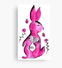 R is for Rabbit - By Merrin Dorothy Canvas Print