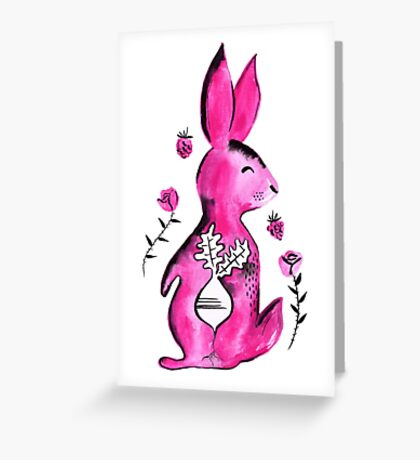 R is for Rabbit Greeting Card